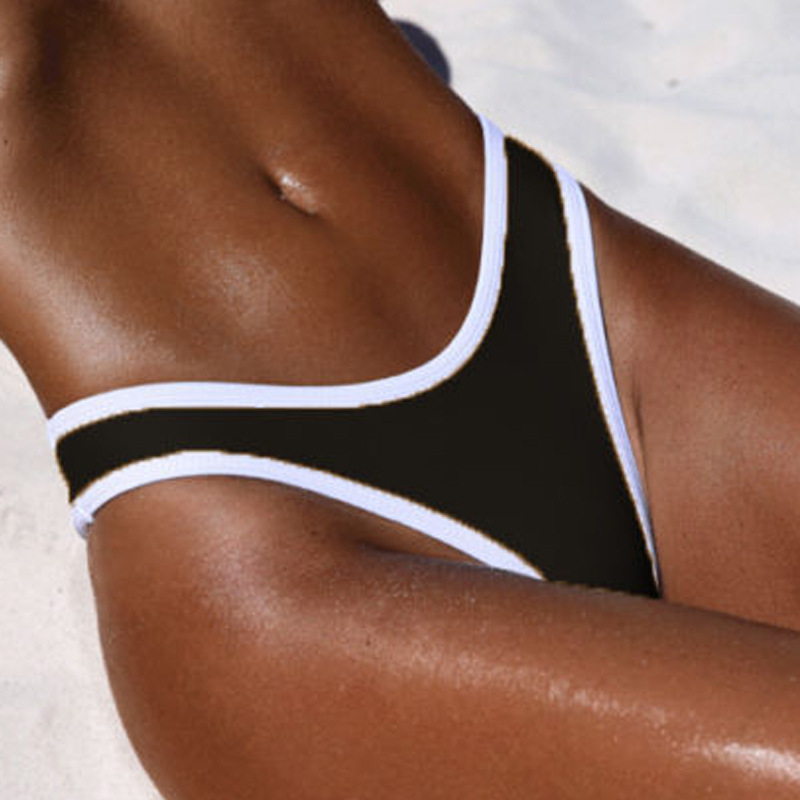 New 2 Color V Shape Bikini Bottom Swimwear Women Swim Briefs Swimsuit Panties Underwear Thong tankini Bottom Tanga Beachwear
