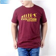 KOLVONANIG EVOLUTION Of Skateboard Print Mens T Shirts Fashion 2018 Streetwear Male O-Neck Cotton Short Sleeve Hiphop Tee