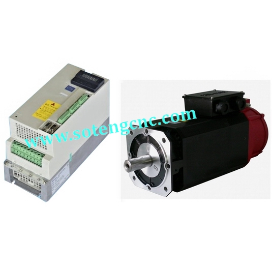 Spindle Servo Driver and motor kit(1.5kw, single/three phase,220V), CW/CCW, Orientation, C-axis, positioning control functions yka3722ma ykb3722ma upgrade ykc3722ma yako research and control three phase driver 3d722