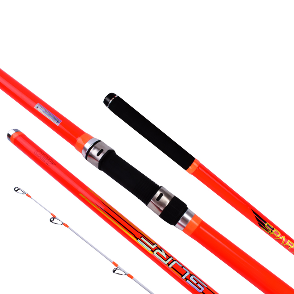 wholesale 2pcs pack 4 2m Carbon fiber 100 300g 3Sections Surf casting Rod Ucatchok distance throwing far shot Surf Rod in Fishing Rods from Sports Entertainment