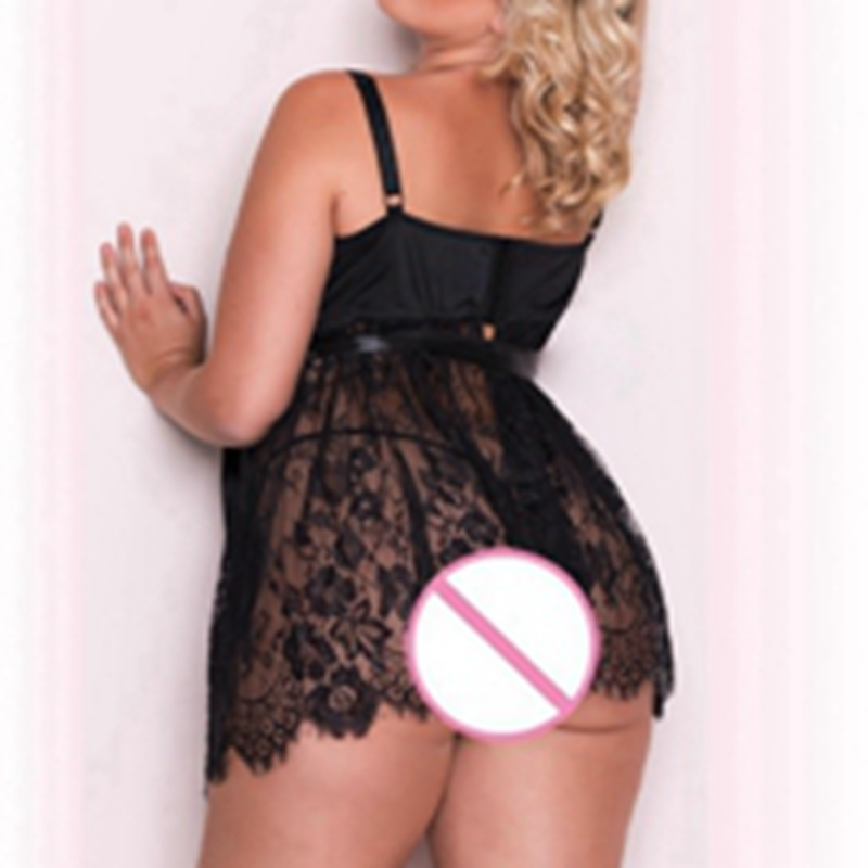 0a1d3f0008fb Sale! Home / Women / Women Plus Size / Women PS Loungewear / Sexy Lingerie  Women dress Plus Size 5xl Eyelash Lace Romance Set Temptation Underwear ...
