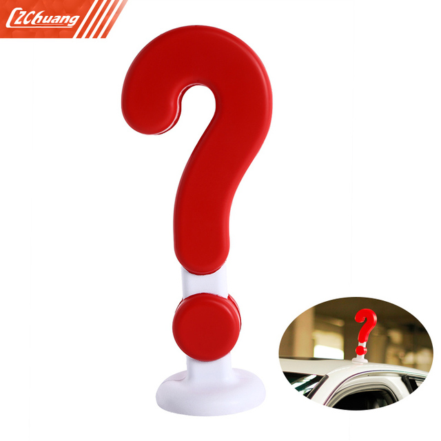 Wentongzi 3d Car Sticker Funny Question Mark Decal In Car Stickers