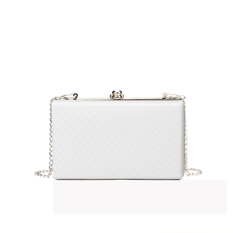 Frame Bag Handbags Diamond Lattice Women Purses Chain-Box Shoulder-Bag Evening-Clutches