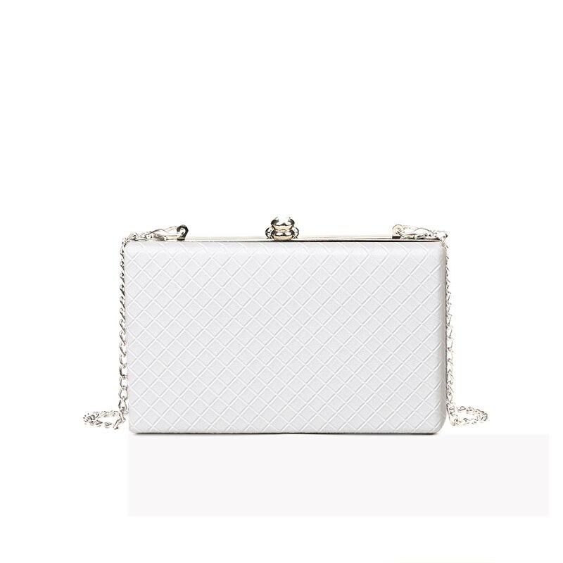 2018 Ladies Frame Bag Women Evening Clutches High Quality Diamond Lattice Handbags Purses Wedding Girls Chain Box Shoulder Bag