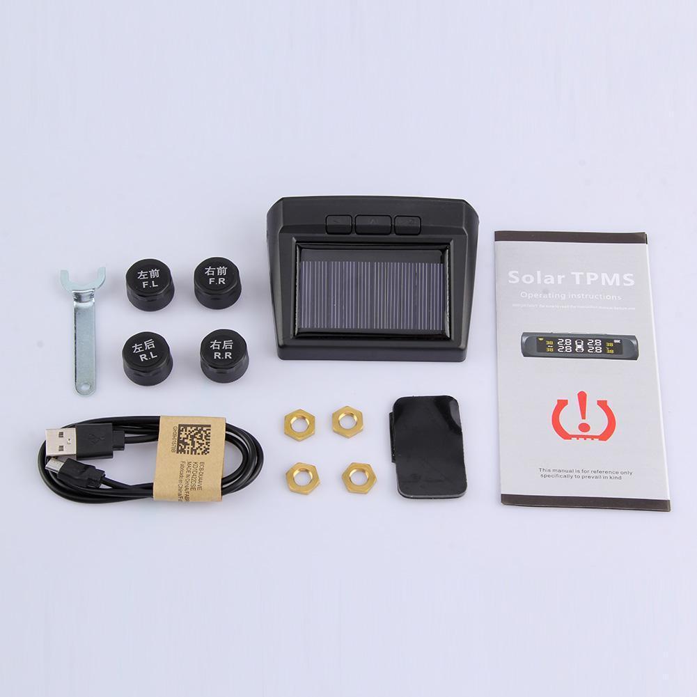 Vehemo Lcd Черная система контроля давления в шинах Мониторинг автомобильных шин Анти-взрыв долговечная шина сигнализация давления