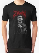 Zayn Malik Band Tee Men's T Shirt Black Short Sleeves New Fashion T-Shirt Men Clothing Interesting Pictures Gray Style