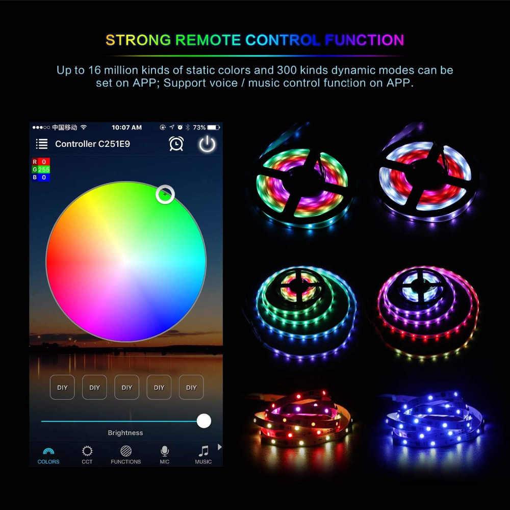 LED Bluetooth WiFi RGB regulator pikseli Mini DC12V z 24Key IR 21Key RF pilot zdalnego sterowania dla SMD 5050 RGB RGBW WS2812 taśmy LED