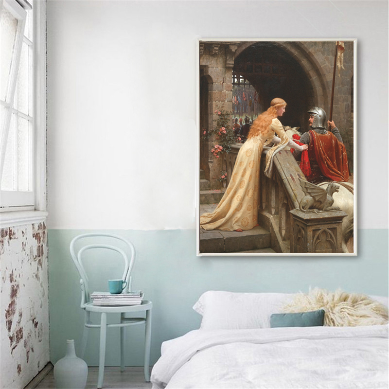 England Famous Painting Godspeed By Edmund Blair Leighton Posters Print On Canvas Wall Art Decorative Pictures For Living Room