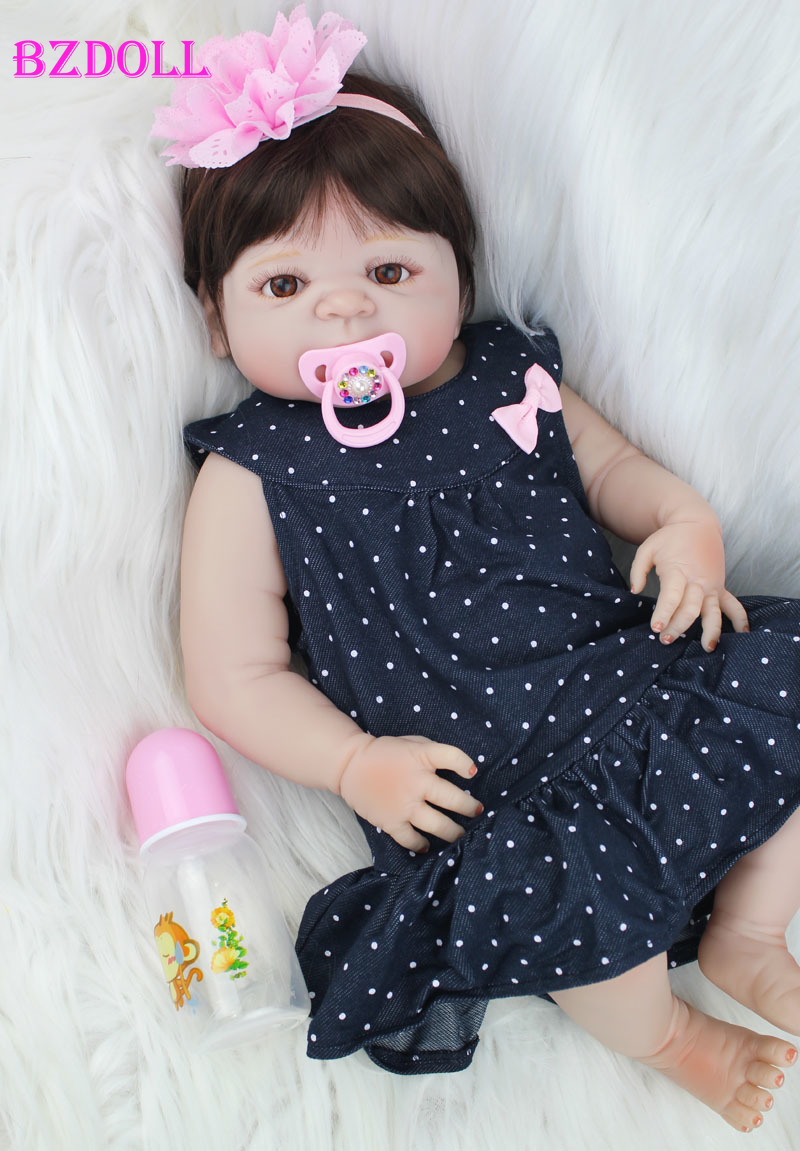 55cm Full Silicone Reborn Baby Doll Toys Lovely 22inch  Newborn Princess Girl Toddler Babies Dolls Xmas Present Child Bathe Toy55cm Full Silicone Reborn Baby Doll Toys Lovely 22inch  Newborn Princess Girl Toddler Babies Dolls Xmas Present Child Bathe Toy
