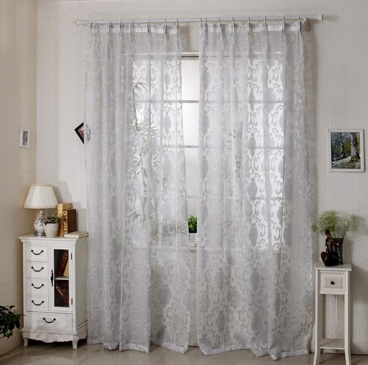 curtains bedroom living room jacquard voile french window curtains tulle hooks eyelet top lace kitchen luxury modern sheer