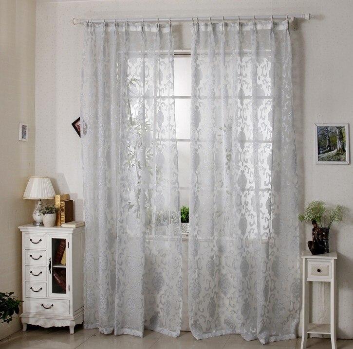cortinas quarto sala de estar jacquard voile franc s