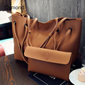Osmond Fashion Women Leather Handbag 2pcs Composite Bag Shoulder Bags For Women 2017 Ladies Top-handle Bag