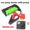 Car power bank car jump starter with pump Super Function Mobile Auto emergency power PowerBank Car power jump starter  50800 mAh