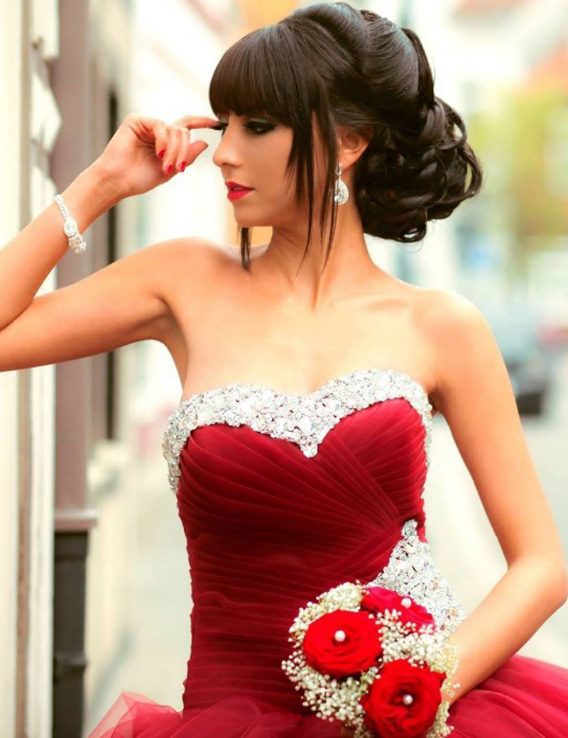 Red Christmas Ball Gown – Dresses for Woman