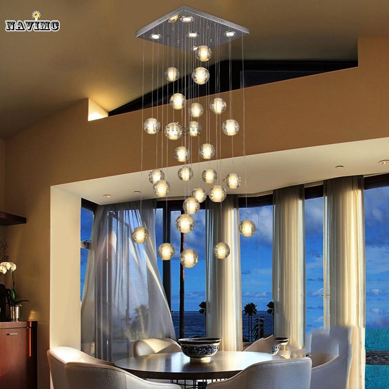 DIY Modern LED Crystal Pendant Lights Fixtures Magic Crystal Ball ...