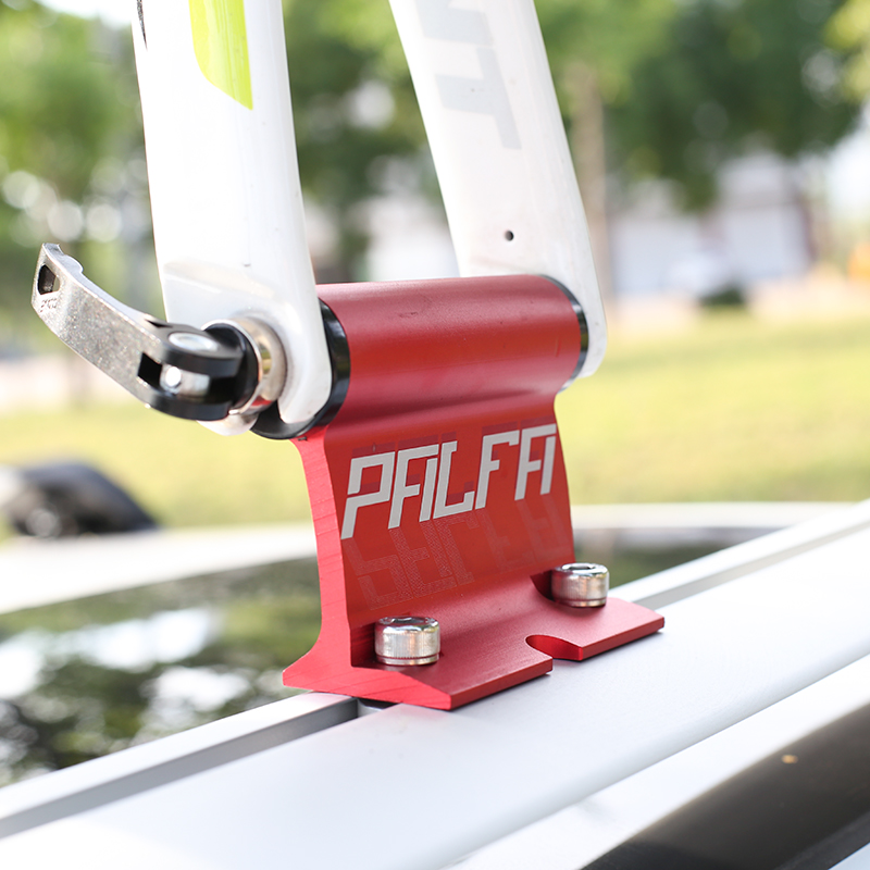 Bicycle Rack Triple Bike Roof-Top Suction Bike Car Rack Carrier Quick Install Red