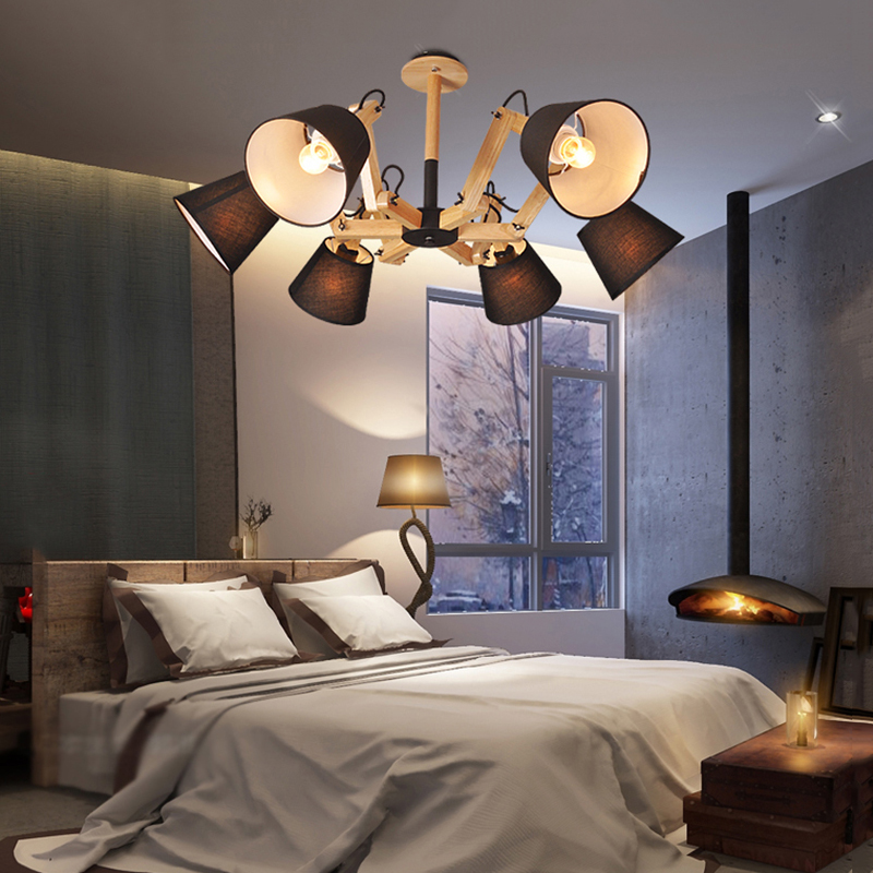 Wood Chandeliers For Dining Room: TRAZOS Modern Cottage Wooden Chandelier Lighting Dining