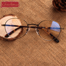 New Vintage Round Alloy Optical Retro Glasses Frames Myopia Eye Ultralight Prescription Eyewear