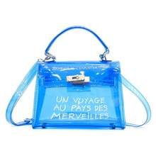 Women Fashion PVC Transparent Adjustable Strap Handbag Single Shoulder Bag Purse(China)