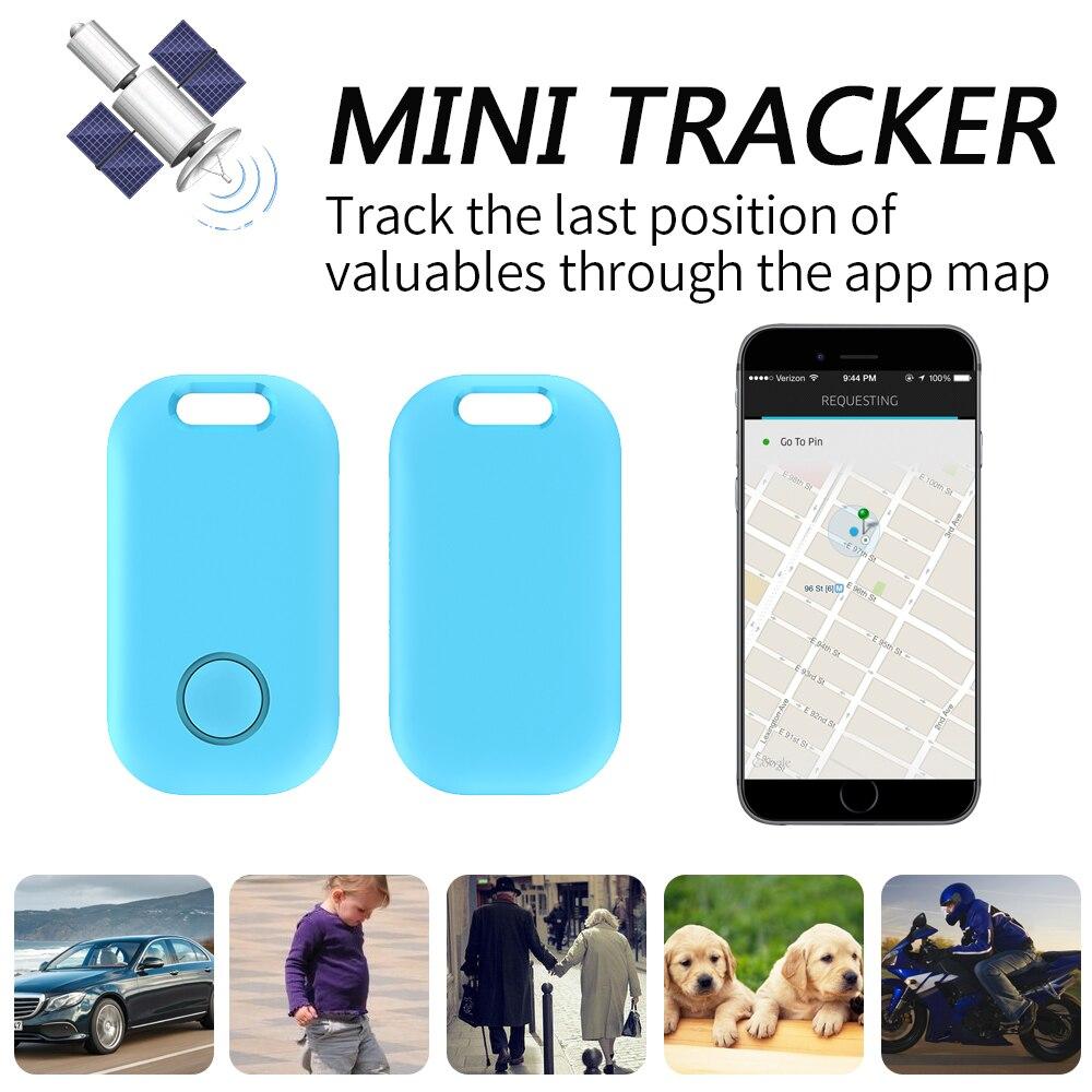 Mini Alarm Key GPS Tracker Finder Child Pet Anti-Lost Bluetooth Portable Motorcycle Tracker Track