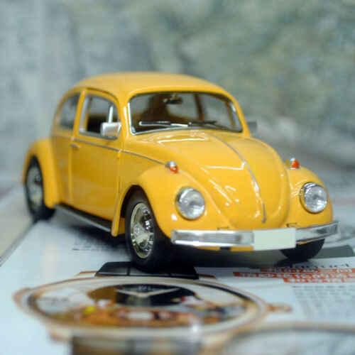 VINTAGE Beetle Diecast ดึงกลับรถของเล่นเด็กของขวัญตกแต่ง Conveni