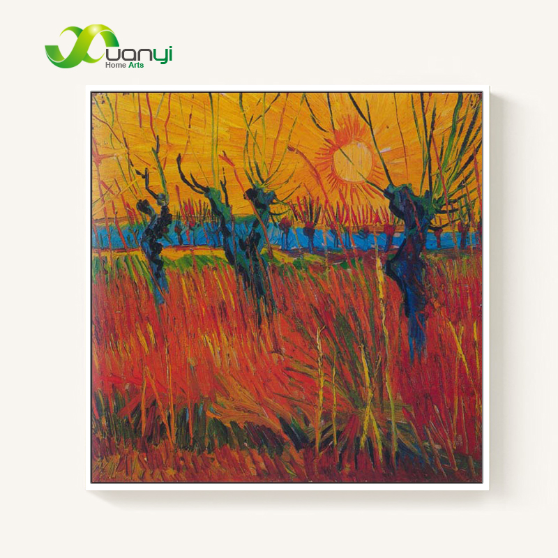 Van Gogh Oil Handmade Painting Reproductions Willows Under the Setting Sun Van Gogh Painting HandPainted Wall Picture Unframed