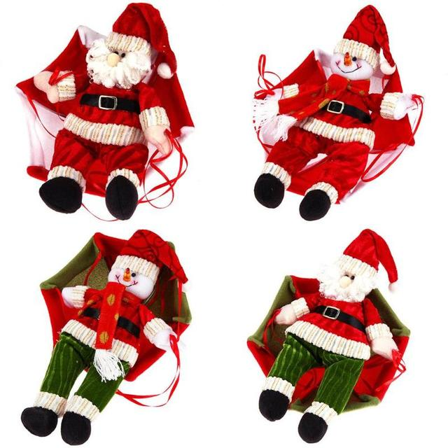 24cm christmas parachute home ceiling decorations santa claus smowman new year hanging pendant christmas decoration supplies - Christmas Ceiling Decorations