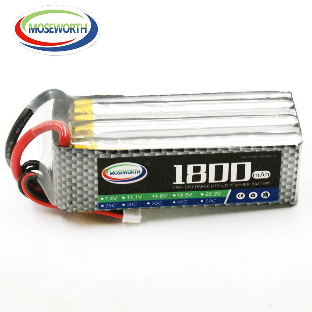MOSEWORTH 6S 22.2V 1800mah 40C RC Airplane LiPo Battery for Helicopter Quadrotor Car Li-ion Cell 2pcs tcbworth 3s rc lipo battery 11 1v 1500mah 40c for rc helicopter airplane quadrotor drone car li ion cell