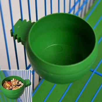 New Parrot Bird Hamster Feed Bowl Cage Hanging Drinking Food Feeder Cup Bowl Feeding bowl tools 1