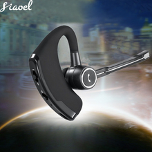 цены на Business Bluetooth Headset Car Bluetooth Earpiece Hands Free with mic ear-hook Wireless Noise Control Earphone for Driver Sport  в интернет-магазинах