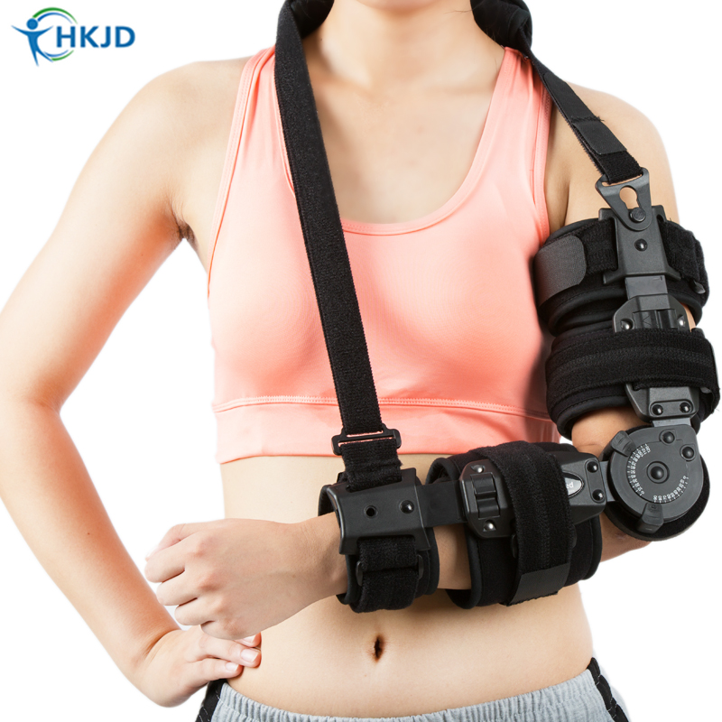 Medical Arm Brace Angle Adjustable Hinge Elbow Support Brace For Forearm Fracture injury arm sling factory direct sale hinge elbow brace arm support medical orthopedic orthotics supports