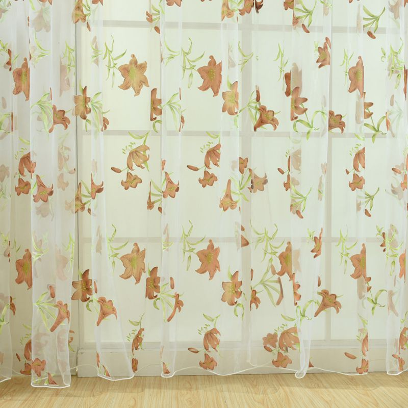 Curtains 1m*2m  Offset Glass Multi Color Yarn Lily Room Lounge Balcony Kitchen