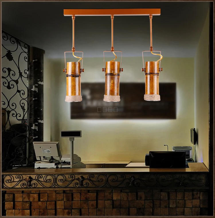 Bamboo Loft designer American wood lamp retro hemp Bar Cafe clothes store decoration creative personality pendant lights ZHzb57 american retro loft industrial hemp pendant lights creative network bar clothing store genuine personality pendant lamp ta10176
