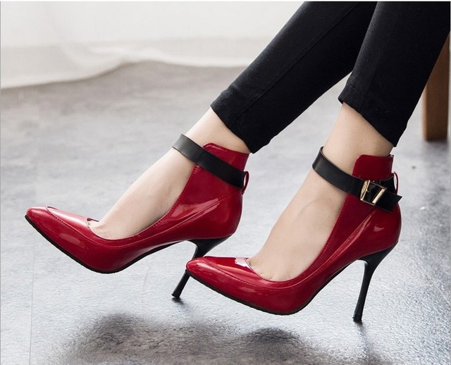 dfa9cbfc95a8 2 Colors Fashion Women Pumps Sexy Red Bottom Pointed Toe High Heels Shoes  Woman 2015 Brand New Design Work Party Shoes