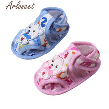 ARLONEET 2019 baby boys Girls baby cotton fabric Canvas Anti-slip Shoes cartoon Sneaker Soft kids Toddler Baby Cloth Crib Shoes(China)