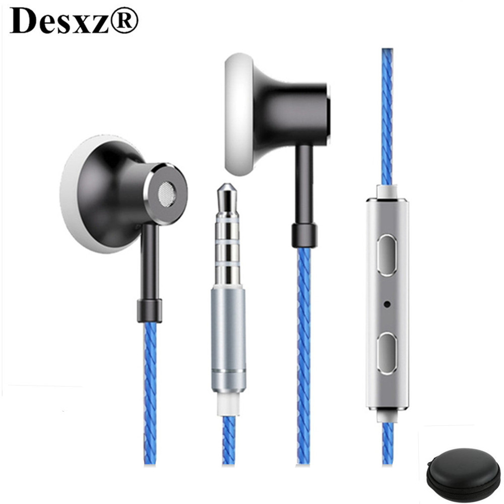 Desxz MS16 Earphones Headphones HIFI Stereo Bass with Mic Sports Headset Noise Canceling for iPhone 4 5 5S Xiaomi Phone airpods insermore active noise cancelling headphones wired bass stereo surround headset with mic flight headband for iphone xiaomi iq 3