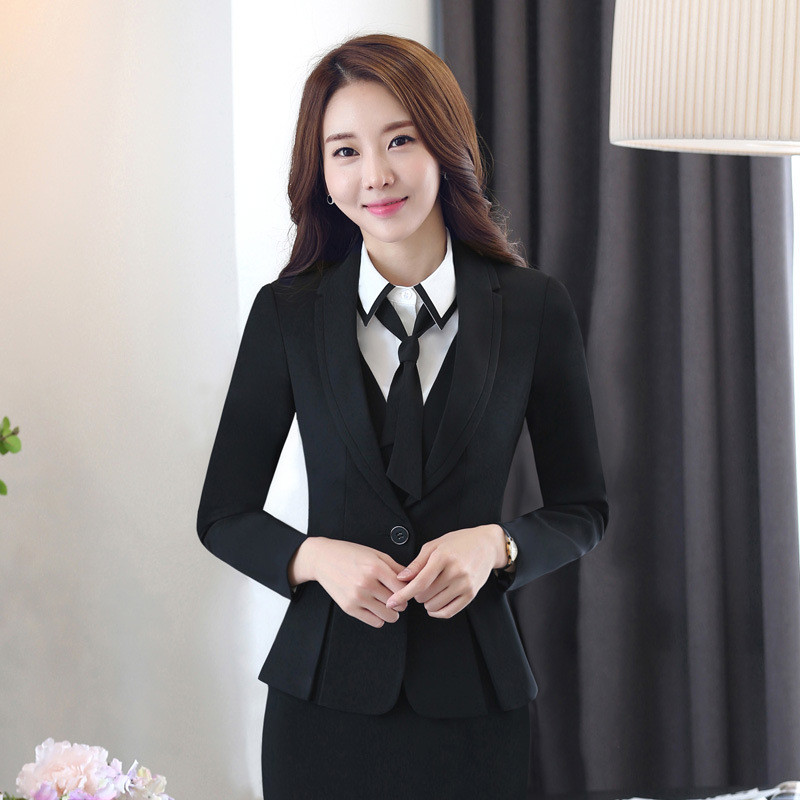Women Office Suits Dress Suit Office Uniform Designs Women Hip Long Sexy Dress 2017 Hot Sale Solid Color Single-breasted Dress