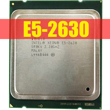 Processeur Intel xeon e5 2630 SR0KV 2,3 GHz E5-2630 gt/s, 15 mo, seis CORE LGA2011, CPU 100%, fonctionnement normal