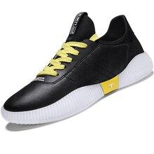 2019 מותג מגמת עור גברים ריצה נעלי טריז סניקרס נעלי גומי זכר ספורט נעליים חיצוני גברים נעלי הליכה שחור ילד