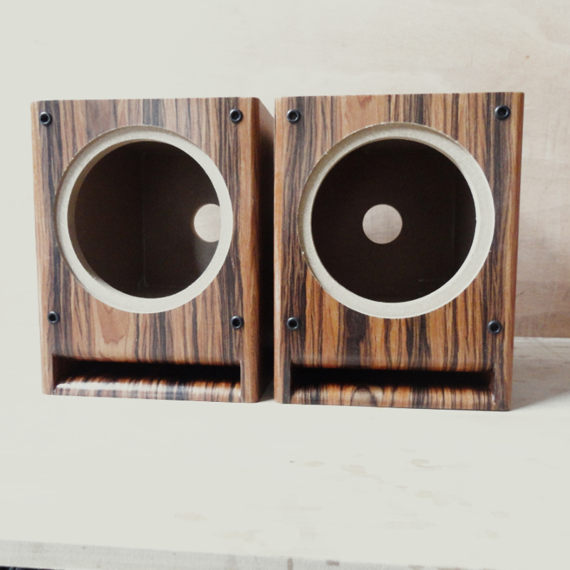 IWISTAO HIFI 6.5 inch Full Range Speaker Empty Cabinet Wooden Box Front Labyrinth Guide  ...