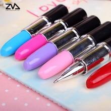 5 pcs/lot Novel Lipstick shape Ballpoint Pen For Writing School Supplies Office Accessories Stationary Kids Student Gift