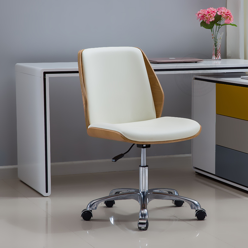 Height Adjustable Task Chair Modern Bentwood Office Chair Seat with Multi-Directional Wheels Computer Chair Armless Furniture комплект ifo delta 21 инсталляция унитаз ifo special безободковый с сиденьем микролифт 458 124 21 1 1002