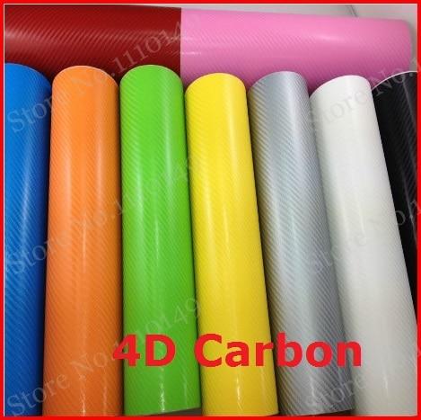 1 pc 1.52MX0.5M 4D serat karbon vinyl film, tekstur 4D serat karbon stiker, 4D stiker mobil dengan gelembung gratis PENGIRIMAN GRATIS