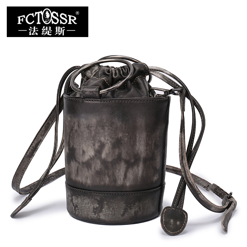 Handmade Leather Hand Bags Women Bucket Shoulder Bag Vintage Genuine Leather Messenger Crossbody Bag Small Handbags new arrival vintage women handbag genuine leather purse female small bag messenger crossbody bag hand painted women shoulder bag