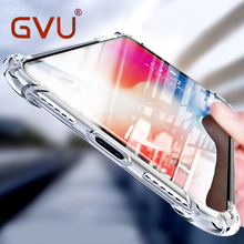 GVU Ultra Thin Soft Transparent TPU Case For Apple iPhone X 8 8 Plus 7 Silicone Case Cover For iPhone 6 6 7 Plus Phone Bag Case