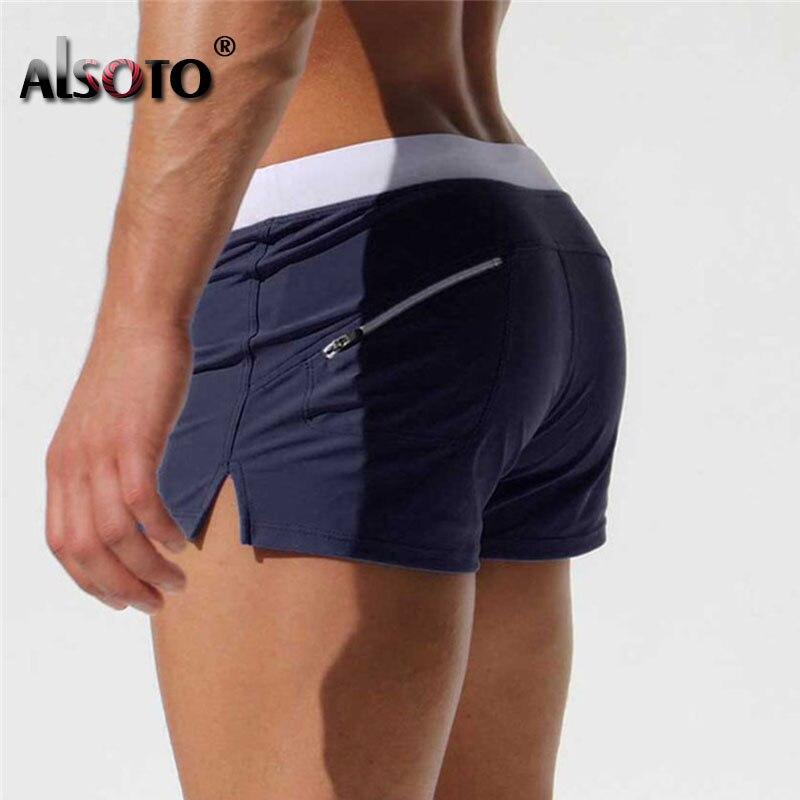 Sexy Beach   Shorts   Men Zipper Pocket swimsuit Casual Mens   Shorts   Fast Dry Boardshorts Joggers Trunks Summer   Short   homme masculino