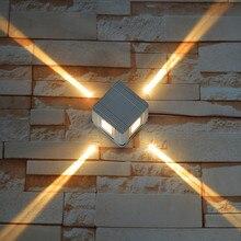 Thrisdar крестообразный узкий луч водонепроницаемый настенный светильник Открытый сад Лестница коридор Светодиодный точечный светильник вилла отель наружный настенный светильник