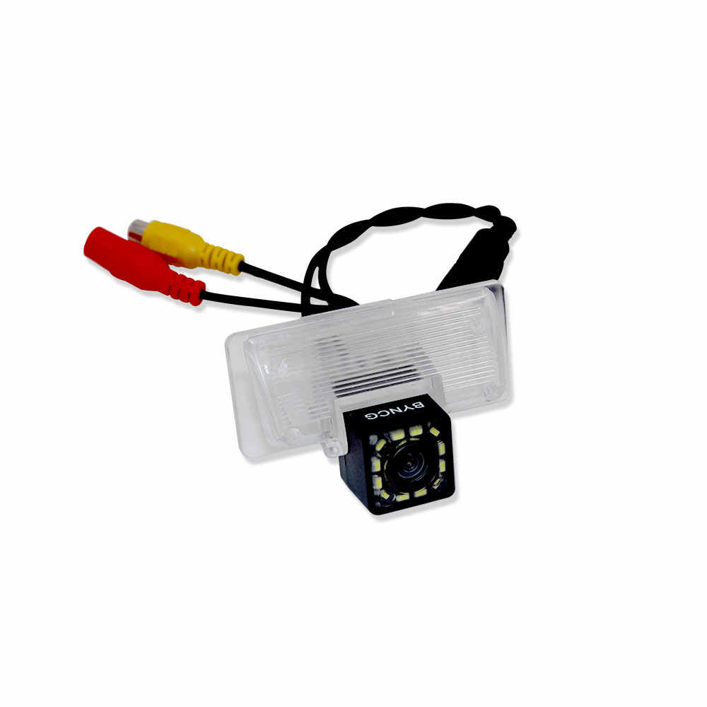 medium resolution of car rear view camera bracket license plate lights housing mount for nissan almera g15 sentra
