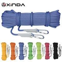 Vender Cuerda de Escalada de roca profesional XINDA Escalada 10M rappel cuerda de seguridad de 10,5mm de diámetro cuerda de alta resistencia cuerda de supervivencia