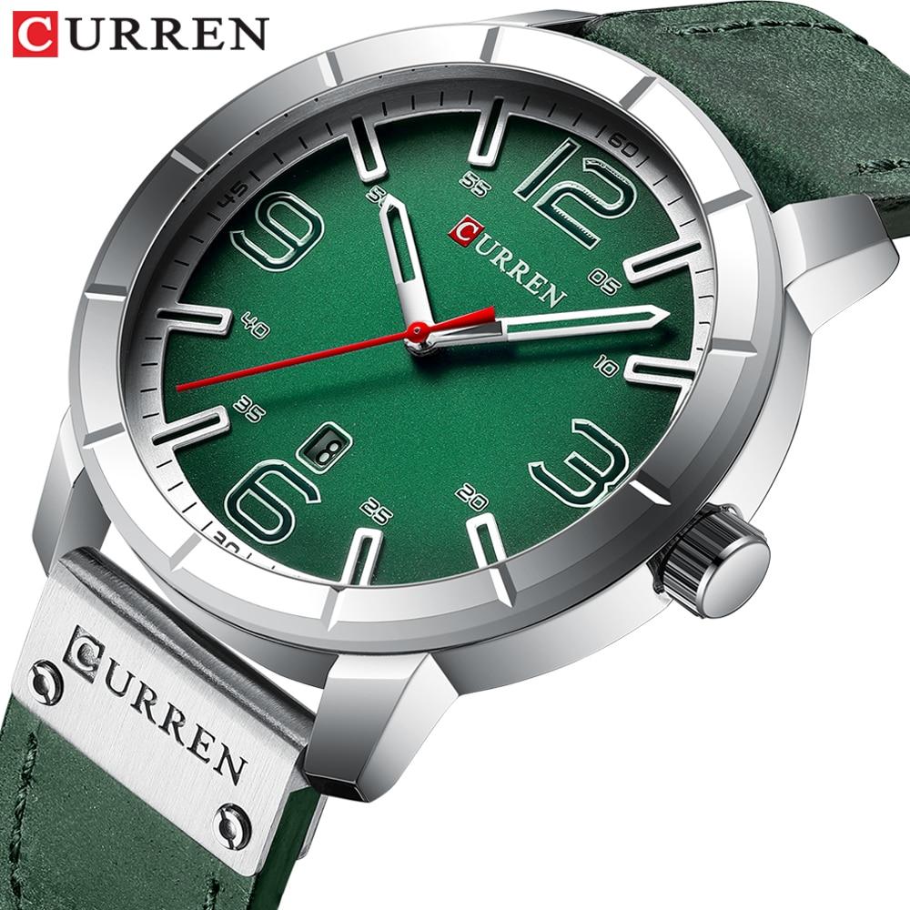 2019 nuevo reloj de pulsera de cuarzo relojes de hombres CURREN superior de la marca de lujo de cuero reloj de pulsera para hombre reloj Relogio Masculino hombres Hodinky